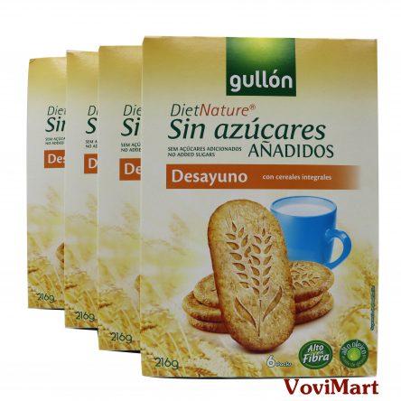 Bánh Ăn Kiêng Gullon DietNature Sin Azucares Desayuno 216g