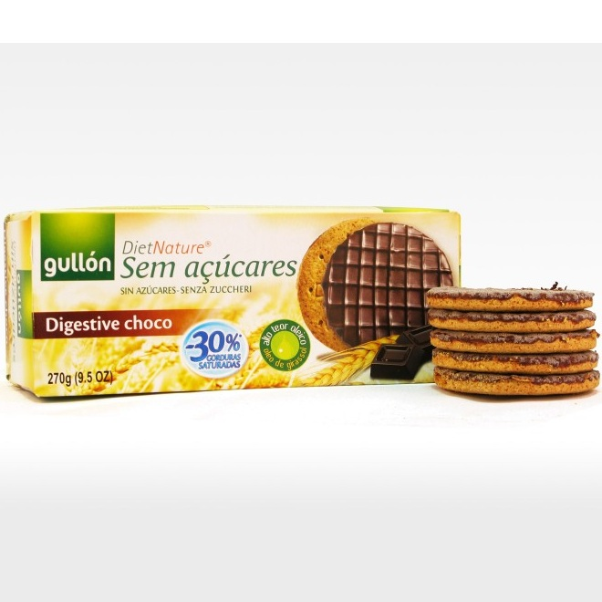 Bánh Ăn Kiêng Gullon Digestive Choco Diet Nature 270gr