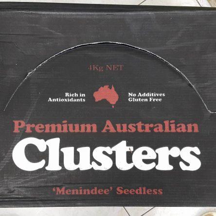 Thùng Nho Khô Nguyên Cành Úc Menindee Clusters 4Kg