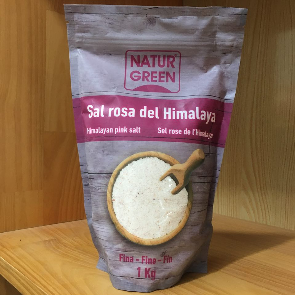 Muối hồng Himalaya NaturGreen 1kg