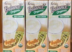 Sữa Gạo Hữu Cơ Lanance Organic hương Vani 180ml
