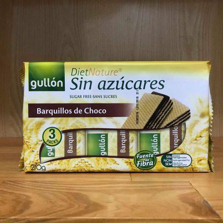 Bánh Xốp Gullon DietNature Sin Azúccares Barquilloss de Choco 210g