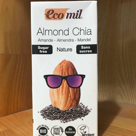 Sữa Hạnh Nhân, Hạt Chia Ko Đường Organic Eco Mil – Hộp 1L