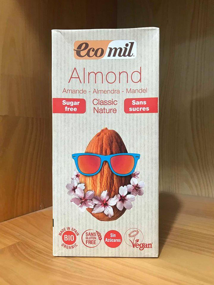 Sữa Hạnh Nhân Calcicum Canxi Ko Đường Organic Eco Mil – Hộp 1L