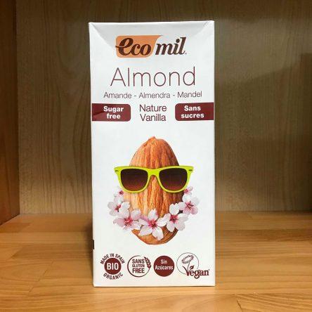 Sữa Hạnh Nhân Vanilla Ko Đường Organic Eco Mil – Hộp 1L