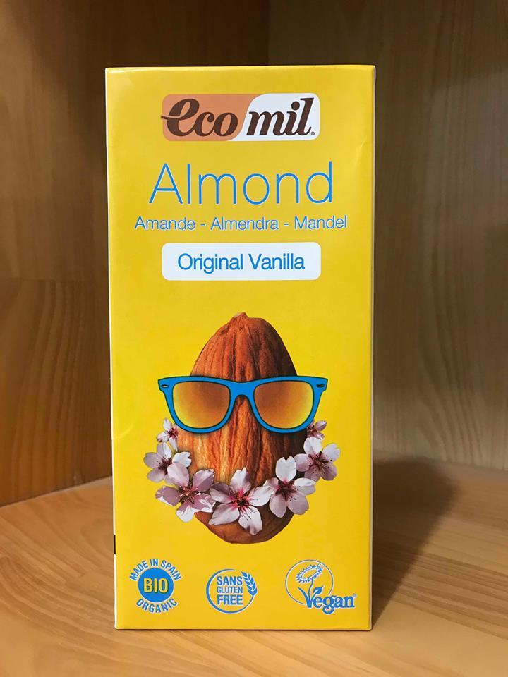 Sữa Hạnh Nhân Vanilla Organic Eco Mil – Hộp 1L