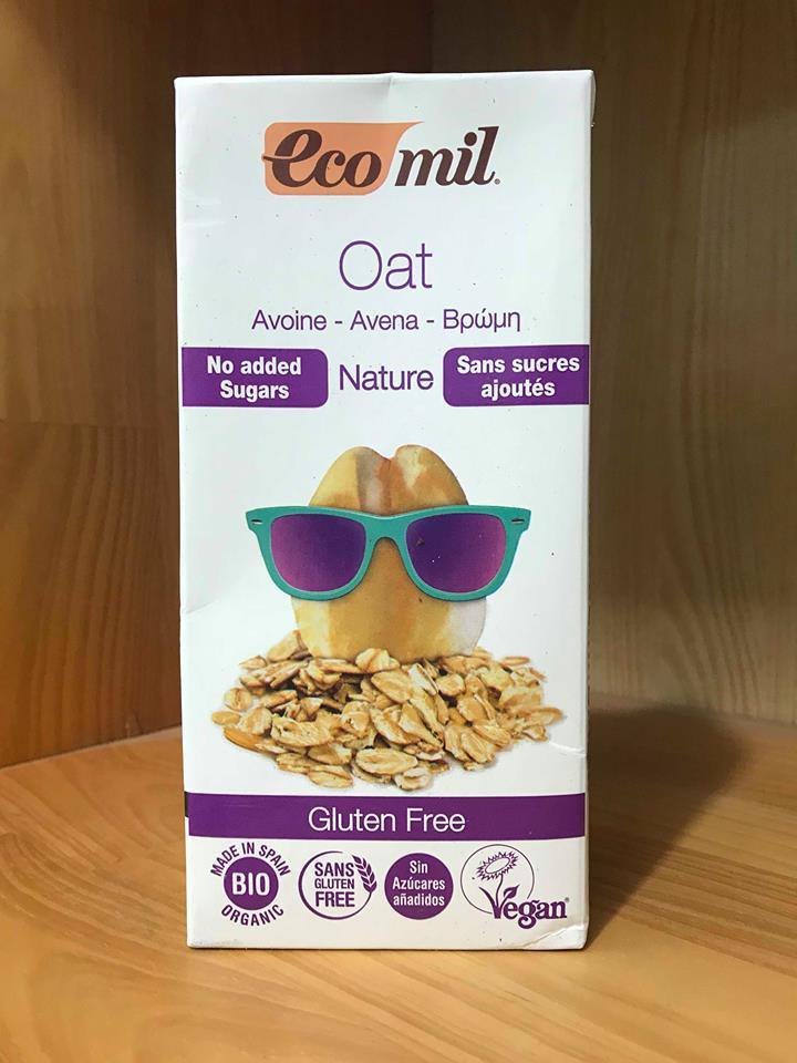 Sữa Yến Mạch Hữu Cơ Ko Đường Gluten Free – Eco Mil Hộp 1L