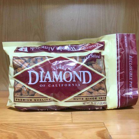 Hạt Hạnh Nhân Nguyên Hạt Rang Bơ Diamond Mỹ 453g