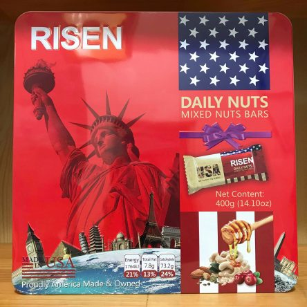 Bánh Risen Daily Nutst Mixed USA – Đỏ